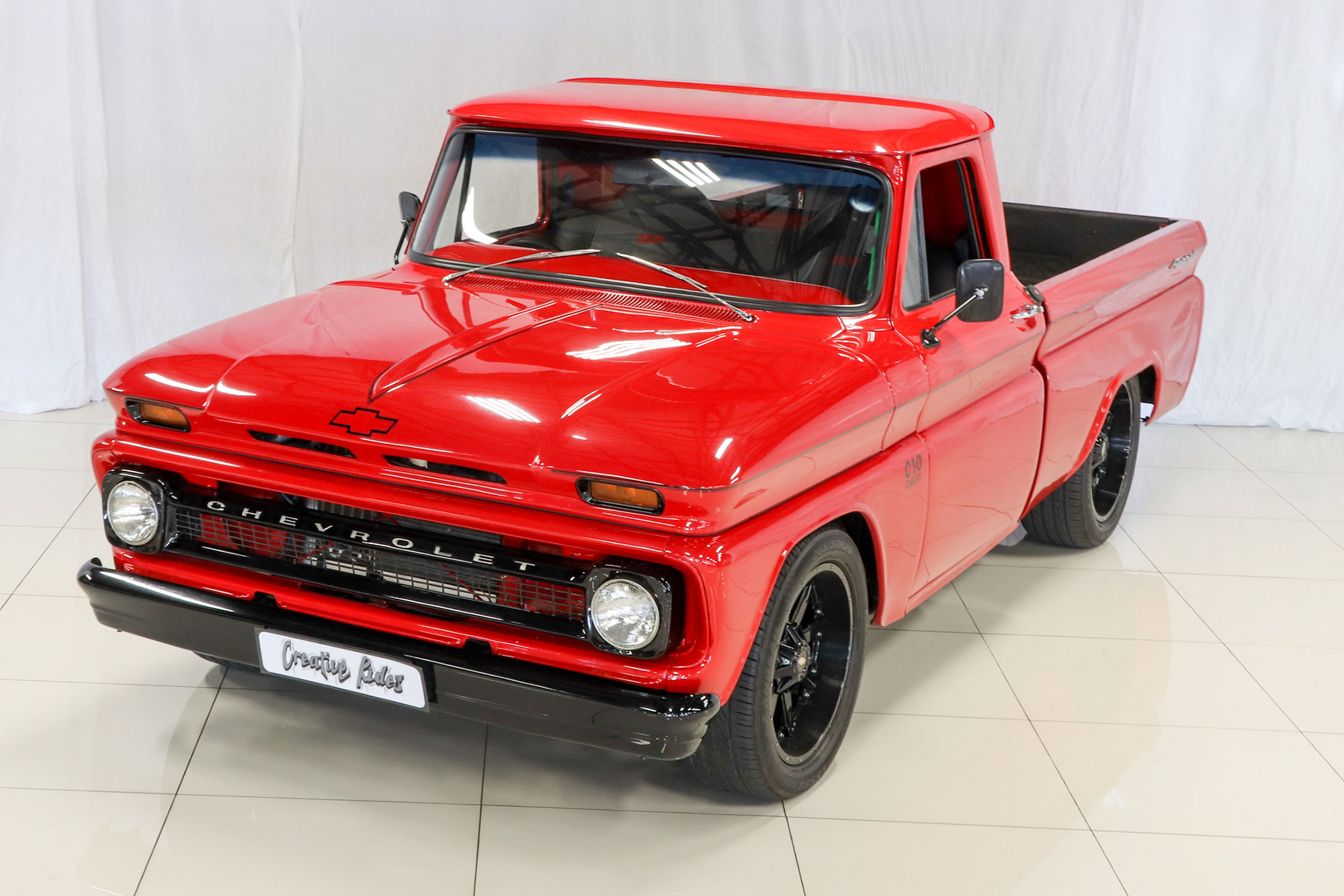 1966 Chevrolet C10 Fleetside Custom Pickup Creative Rides Truck Sold Vehicle Overview